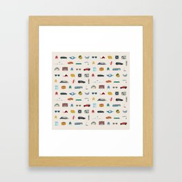vancity spread Framed Art Print
