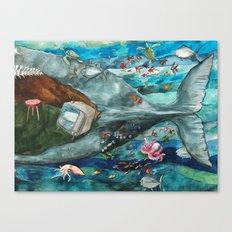 Whale - Tail Canvas Print