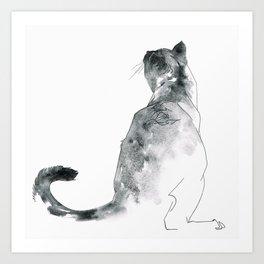 Cat at the Windowsill Art Print