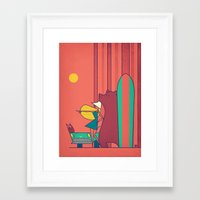 surf Framed Art Prints featuring SURF by Ale Giorgini
