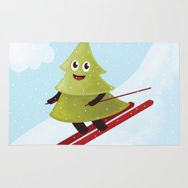 Happy Pine Tree on Ski Rug