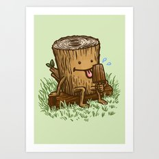 The Popsicle Log Art Print