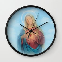 Our Lady Mary Berry Wall Clock