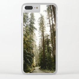 Redwood Forest Adventure III - Nature Photography Clear iPhone Case
