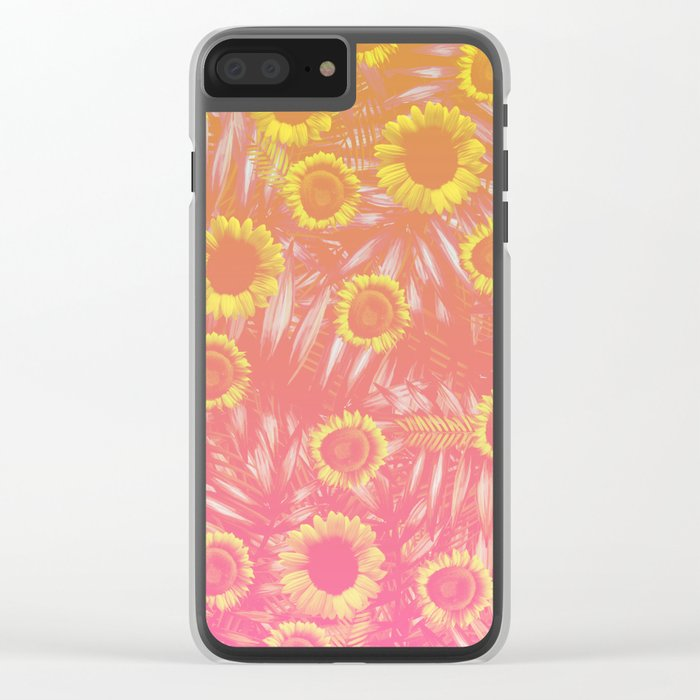 Sunflower Party #4 Clear iPhone Case