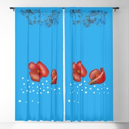 Coquelicot et brume bis Blackout Curtain