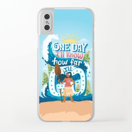 The ocean chose me Clear iPhone Case