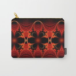 Floral Ribbon Carry-All Pouch