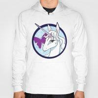 the last unicorn Hoodies featuring Last Unicorn by AriesNamarie