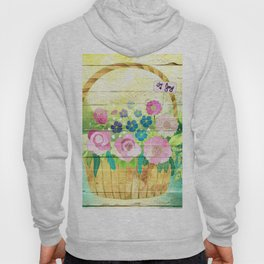 Floral Basket Hoody