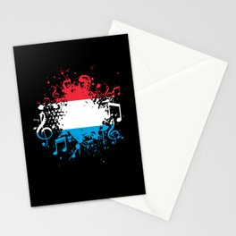 Luxembourg Flag Music Stationery Cards