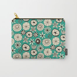summer flowers teal Carry-All Pouch