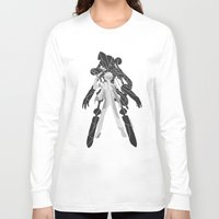 persona Long Sleeve T-shirts featuring Persona 3 Poster - The Protagonist by JJeffDraws