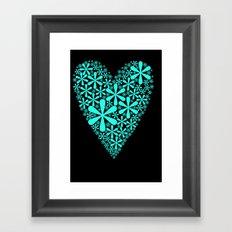 asterisk heart Framed Art Print