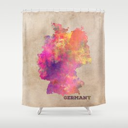 Germany map Shower Curtain