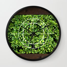 Bordered Leaves Wall Clock