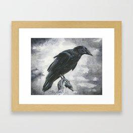 Moody Raven Framed Art Print