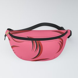 Patterns with curls for pinc fabric. Fanny Pack