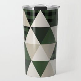 Hunter Green camping cabin glamping cheater quilt baby nursery gender neutral Travel Mug