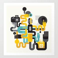 The photographer. Art Print