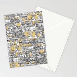 Paris toile gold Stationery Cards