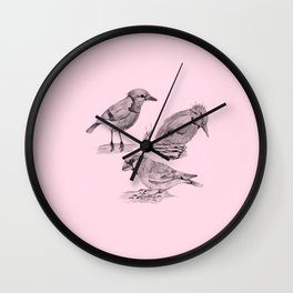 Candy Birds  2 Wall Clock
