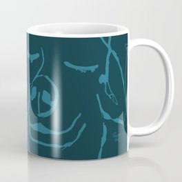 Smell life. Blue Coffee Mug