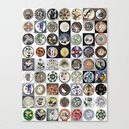 Picasso Ceramic Plates Canvas Print