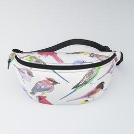 Watercolor spring birds Fanny Pack