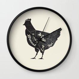 Chicken Butcher Diagram Wall Clock