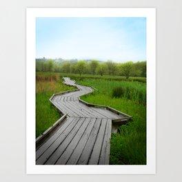 Trail Alone Art Print