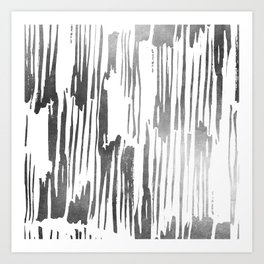 Modern Stripes Gray Art Print