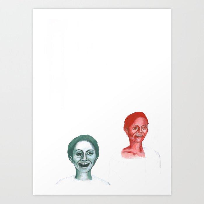 Au travail 1 Art Print