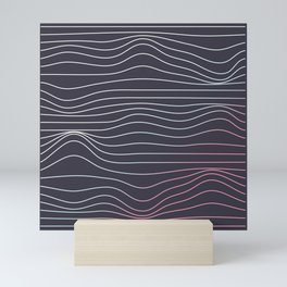 Wave lines Mini Art Print