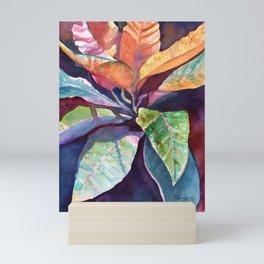 Colorful Tropical Leaves 3 Mini Art Print