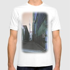 shining spire... SMALL White Mens Fitted Tee