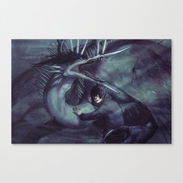IN THE WAKE OF DISTANT CRUSADES Canvas Print