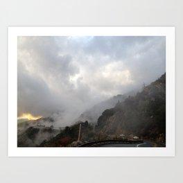 Outside Twin Peaks 3 Art Print