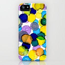 Blue splash of joy iPhone Case
