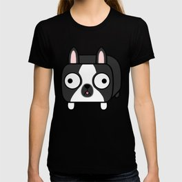 Boston Terrier Loaf - Black and White Dog T-shirt