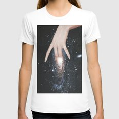 Andromeda White MEDIUM Womens Fitted Tee
