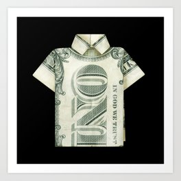 One dollar shirt Art Print