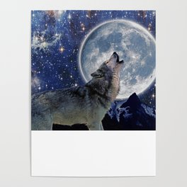 A One Wolf Moon Poster