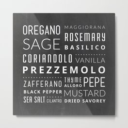 Italian Herbs & Spices Metal Print
