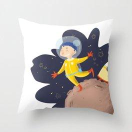 I'll be an astronaut Throw Pillow