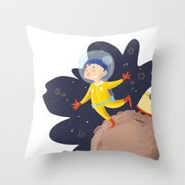 I'll be an astronaut Throw Pillow