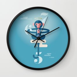 Monkey Gone to Heaven Wall Clock