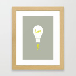 You're the light of my life. Framed Art Print