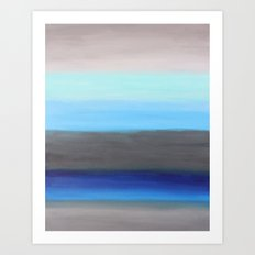 Ocean Floor Abstract Painting Art Print