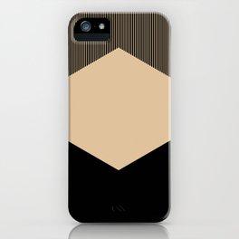 Beige Hex iPhone Case